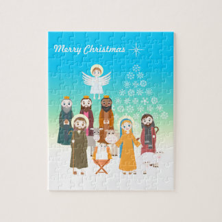 Sweet Nativity Scene for Kids Jigsaw Puzzle