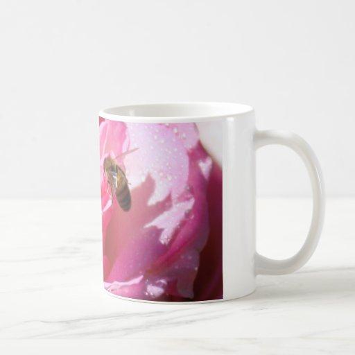 Sweet Nectar after a Light Rain Shower, Flower Bee Coffee Mug