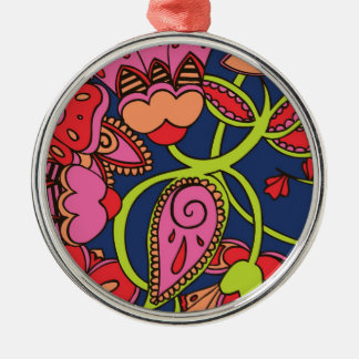Sweet Neon Floral Christmas Ornament