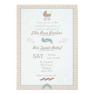 "Sweet Oak Baby Shower Custom Invitation 5"" X 7"" Invitation Card"