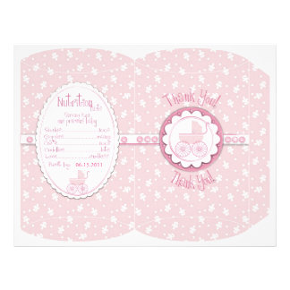 Sweet One Girl Puff Box Template 21.5 Cm X 28 Cm Flyer