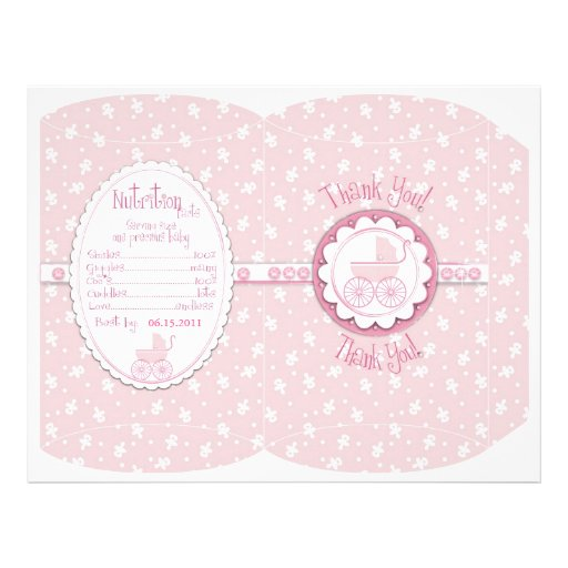 Sweet One Girl Puff Box Template Personalized Flyer