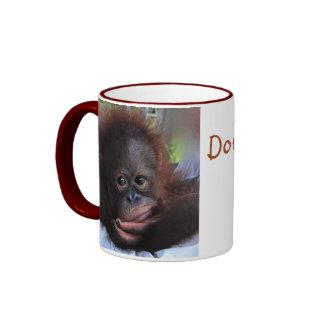 Sweet Orangutan Wildlife Baby Ringer Mug