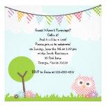 Sweet Owl Birthday Party Invitation