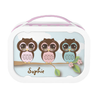 Sweet Owl Friends Personalized Lunch Box