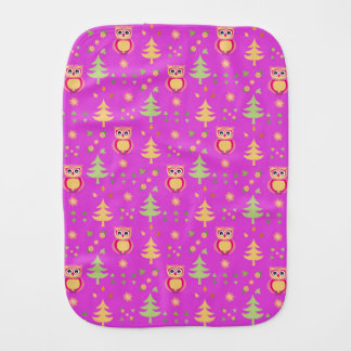 sweet owl pattern burp cloth