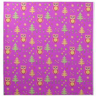 sweet owl pattern napkin