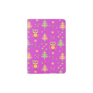 sweet owl pattern passport holder