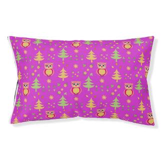 sweet owl pattern pet bed
