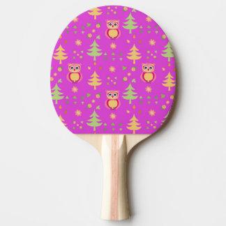 sweet owl pattern ping pong paddle