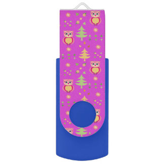 sweet owl pattern USB flash drive