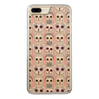 Sweet Owlets Baby Owls on Pale Pink Pattern Carved iPhone 8 Plus/7 Plus Case