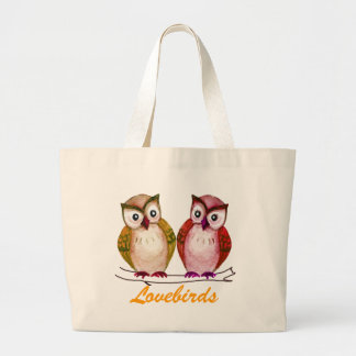 Sweet owls canvas bag
