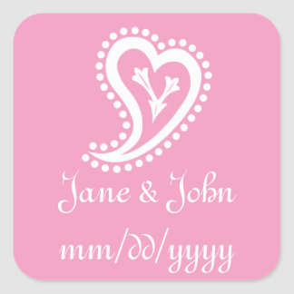 Sweet Paisley Hearts in Petal Pink Sticker