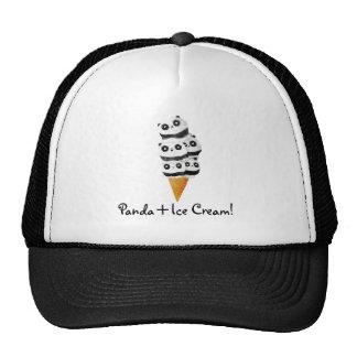 Sweet Panda Bear Ice Cream Cone Hats