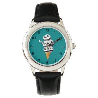 Sweet Panda Bear Ice Cream Cone Watch
