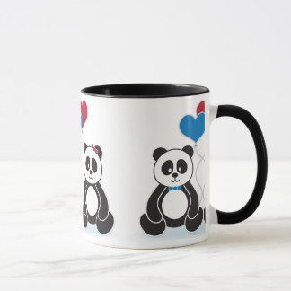 Sweet pandas in love mug