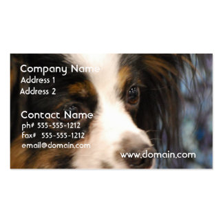 Sweet Papillon Puppy Double-Sided Standard Business Cards (Pack Of 100)