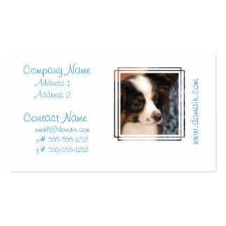 Sweet Papillon Puppy Business Card Templates