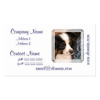 Sweet Papillon Puppy Business Card