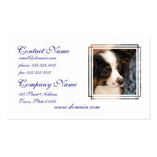 Sweet Papillon Puppy Business Card Template