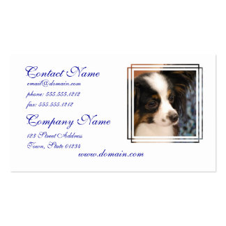 Sweet Papillon Puppy Pack Of Standard Business Cards