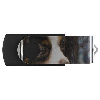 Sweet Papillon Puppy Swivel USB 2.0 Flash Drive