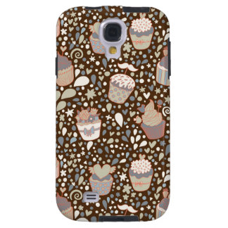 Sweet  pattern made of tasty cupcakes galaxy s4 case