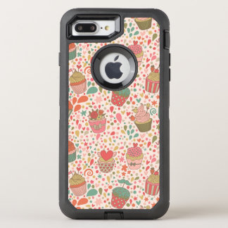 Sweet pattern OtterBox defender iPhone 8 plus/7 plus case