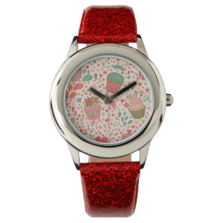 Sweet pattern wristwatch