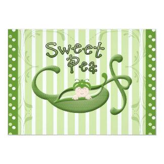 Sweet Pea 13 Cm X 18 Cm Invitation Card