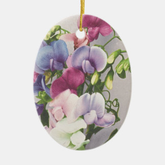 Sweet Pea 1907 Ceramic Oval Decoration