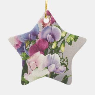 Sweet Pea 1907 Ceramic Star Decoration