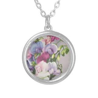 Sweet Pea 1907 Silver Plated Necklace