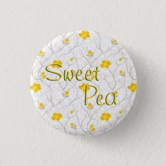 Sweet Pea 3 Cm Round Badge