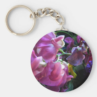 Sweet Pea Basic Round Button Key Ring