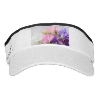 Sweet pea bouquet visor