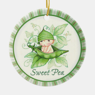 Sweet Pea Christmas Ornament