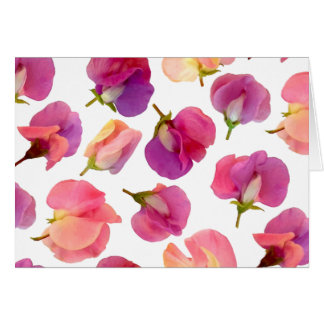 Sweet Pea Flower Card