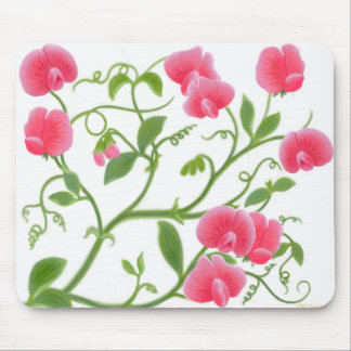 Sweet Pea Flower Vine Mousepad