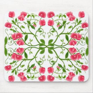 Sweet Pea Flower Vines Mousepad