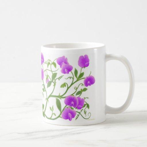 Sweet Pea Flower Vines Mug