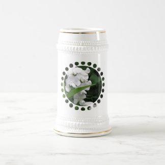 Sweet Pea Flowers Beer Stein Coffee Mug