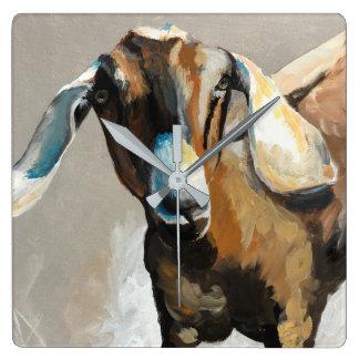 Sweet Pea Goat Farmhouse Square Clock