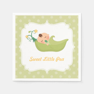 Sweet Pea in a Pod Boy Baby Shower Party Supplies Disposable Serviette