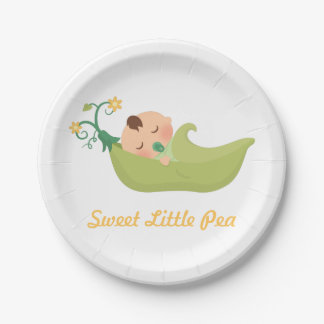 Sweet Pea in a Pod Boy Baby Shower Party Supplies Paper Plate