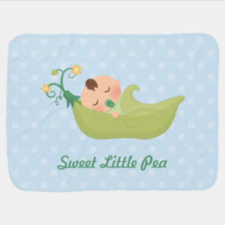 Sweet Pea in a Pod For Baby Boy Baby Blanket
