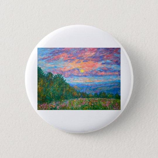 Sweet Pea Morning on the Blue Ridge 6 Cm Round Badge