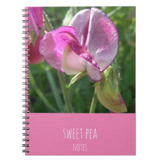 sweet pea notebook