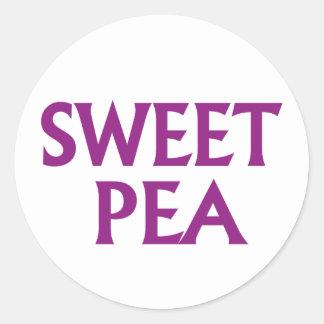 Sweet Pea Round Sticker